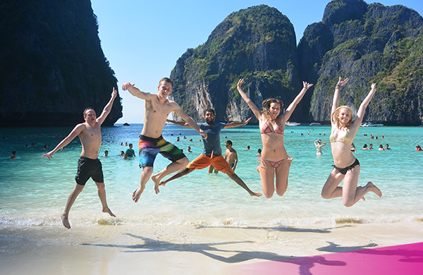 Ultimate Thailand group at Maya Bay