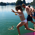 Jump in for a swim in Halong Bay