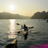 Kayak around Halong Bay