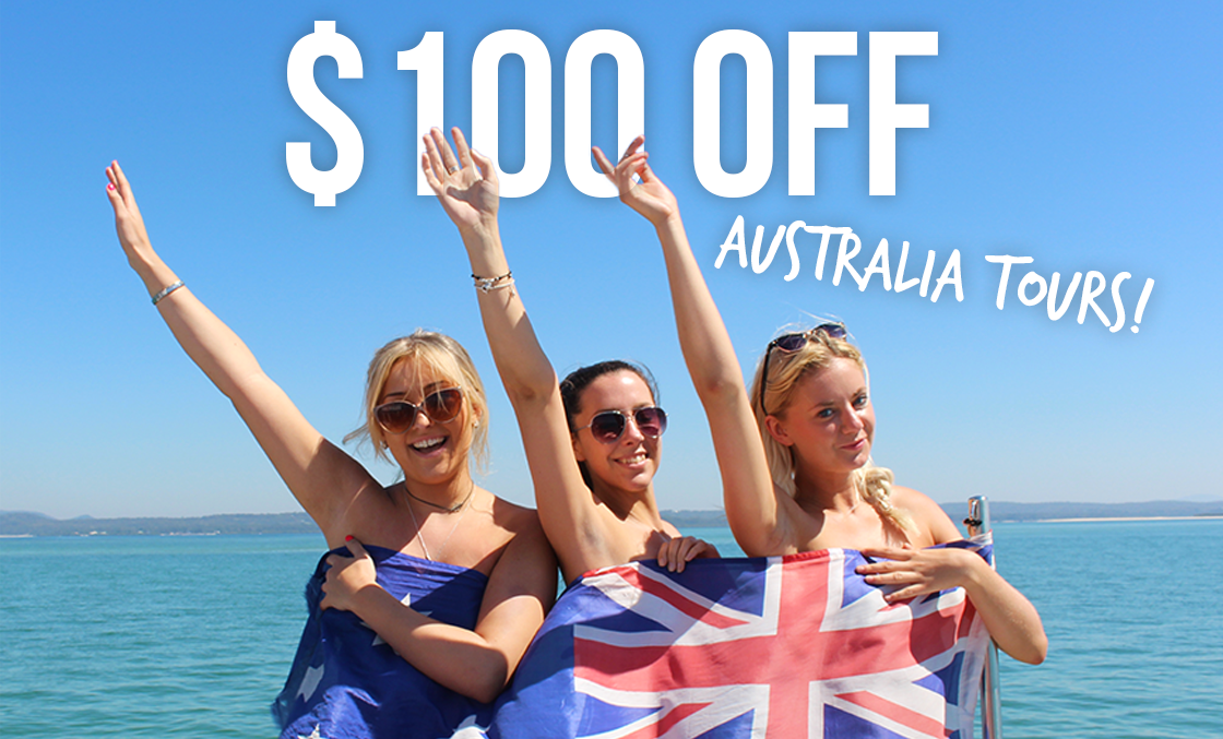 "fbb0e46b2382 It s easy – just use promo code ""STRAYADAY"" when you book any of our  Australia tours online between now and Monday. Enjoy – and see you in the  land Down ..."