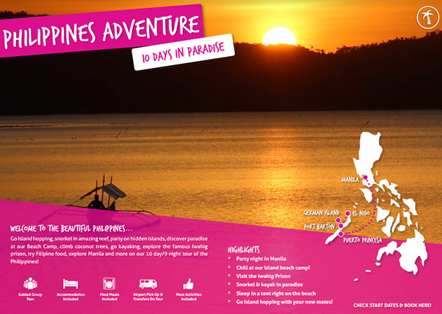 Philippines Adventure brochure