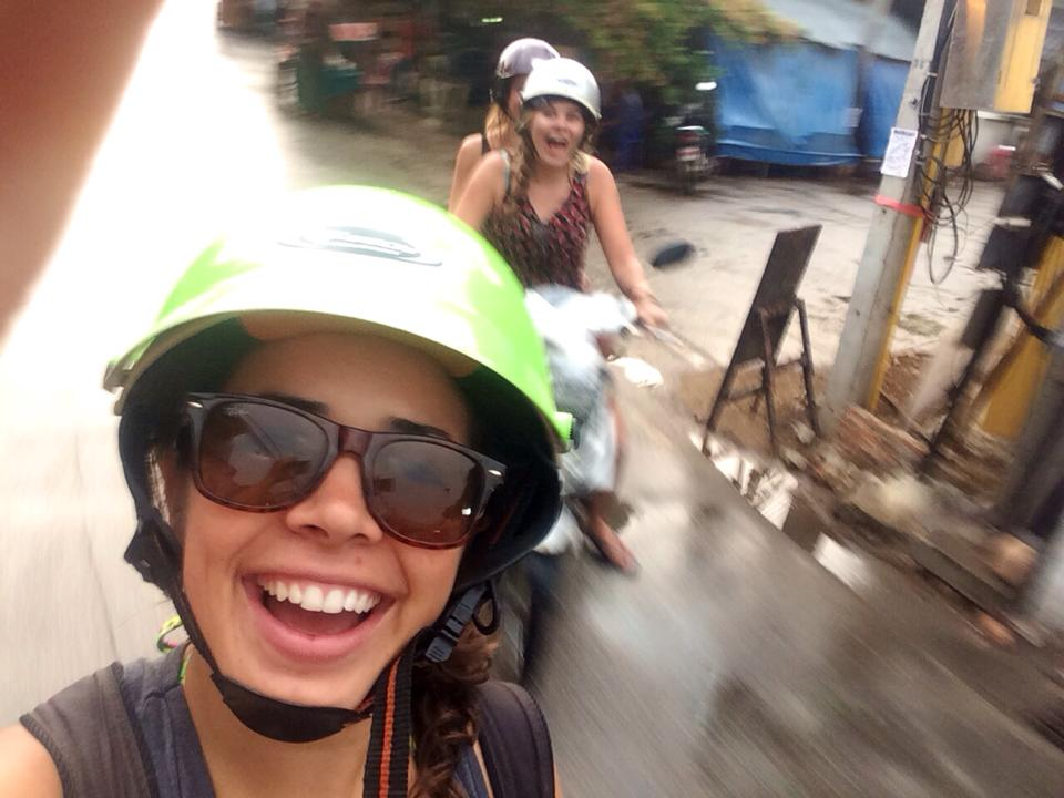 Riding mopeds in Vietnam is the norm!
