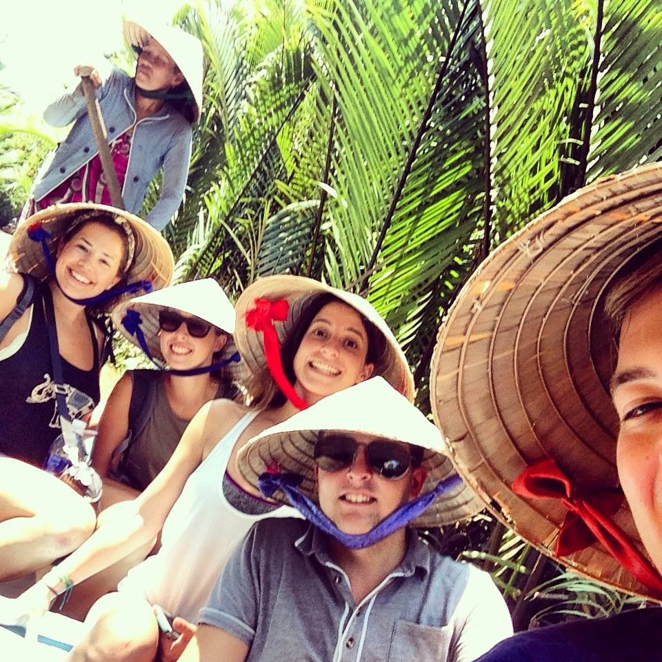 Travelling along the Mekong delta was incredible.