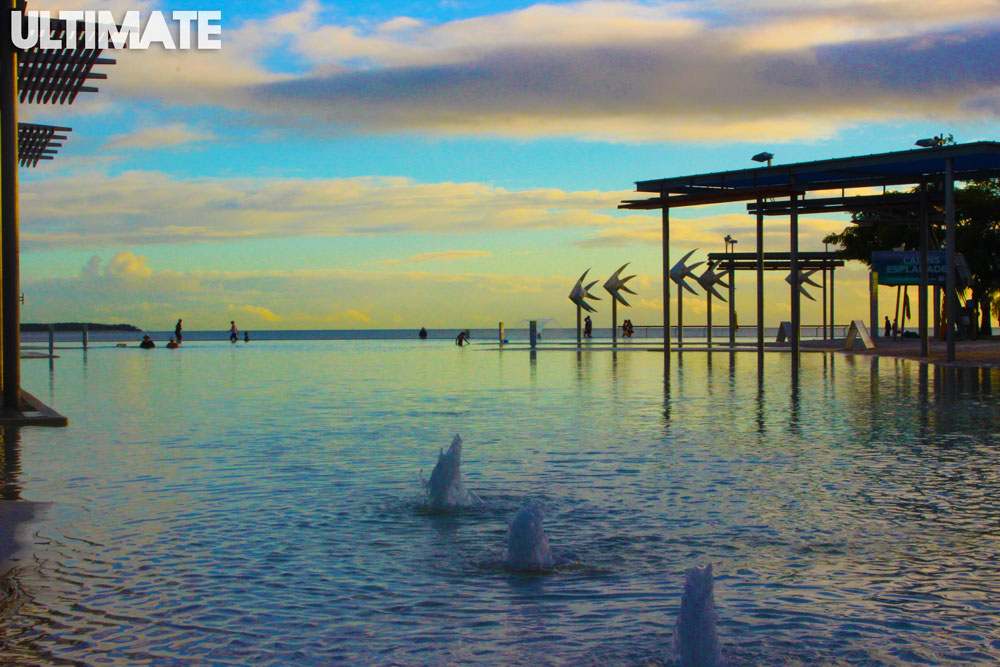 The beautiful lagoon in Cairns