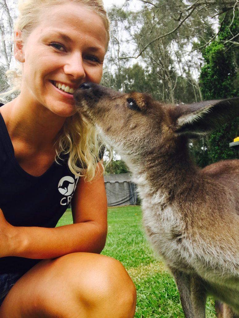 Kiss our kangaroo at UltimateOz basecamp