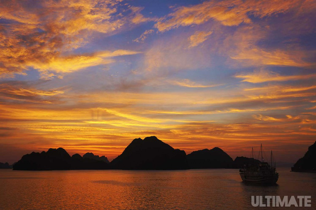 Halong bay sunsets are beautiful