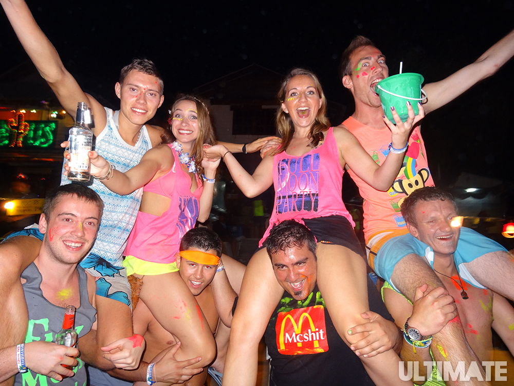 Party at the Full Moon Party in Thailand