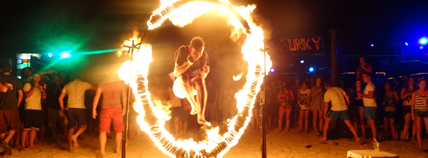Fire shows in Koh Phi Phi