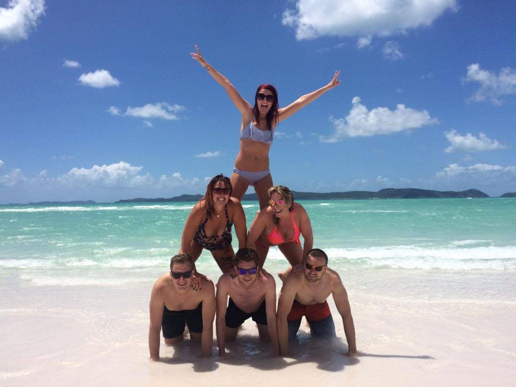 Fun on Whitehaven beach