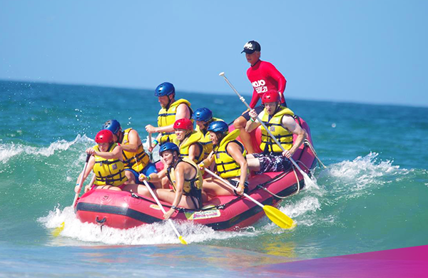 Try ocean rafting at Spot X surf camp on the East coast.