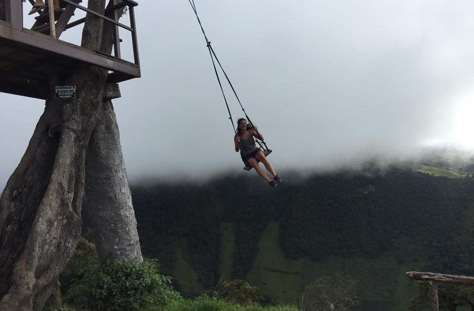 Backpacker living life on the edge!