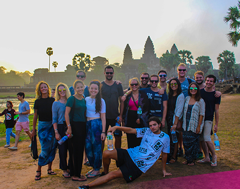 Explore Angkor Wat with new friends