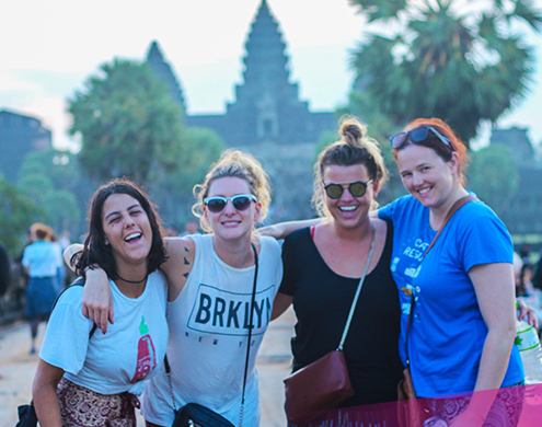 Friends at Angkor Wat