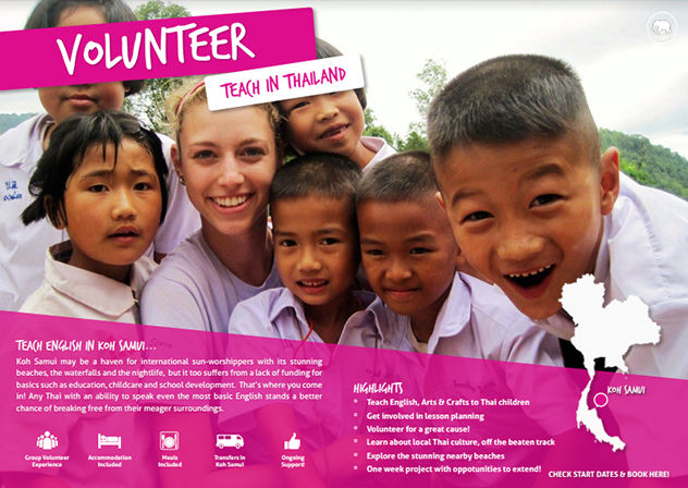 Download your free brochure - Volunteer in Koh Samui