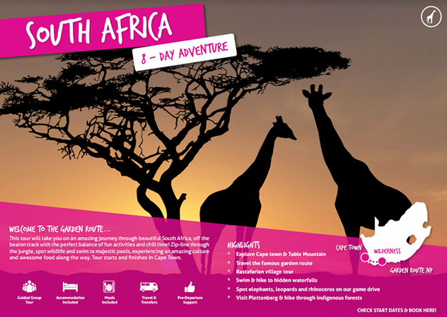 Download your free brochure - South Africa Adventure