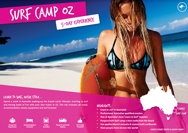 Download your free brochure - UltimateOz Surf camp