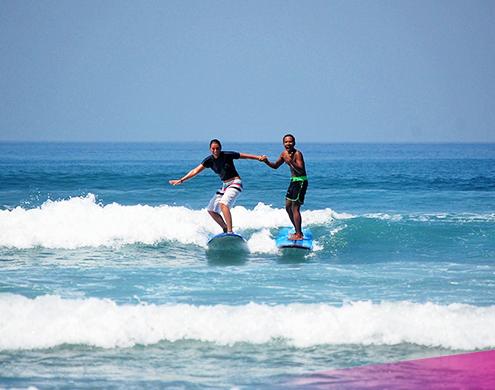 Learn to surf on Bali's best beginner beach in Kuta