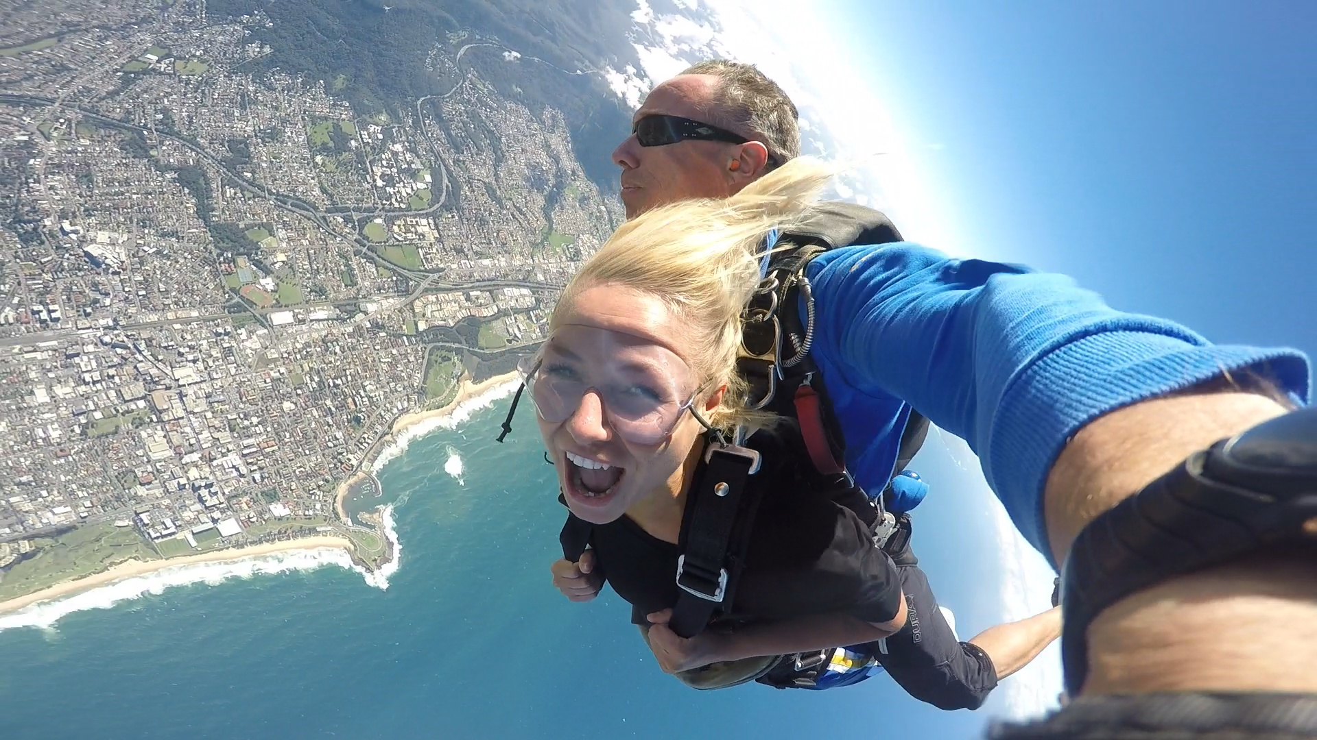 Amazing views during my skydive