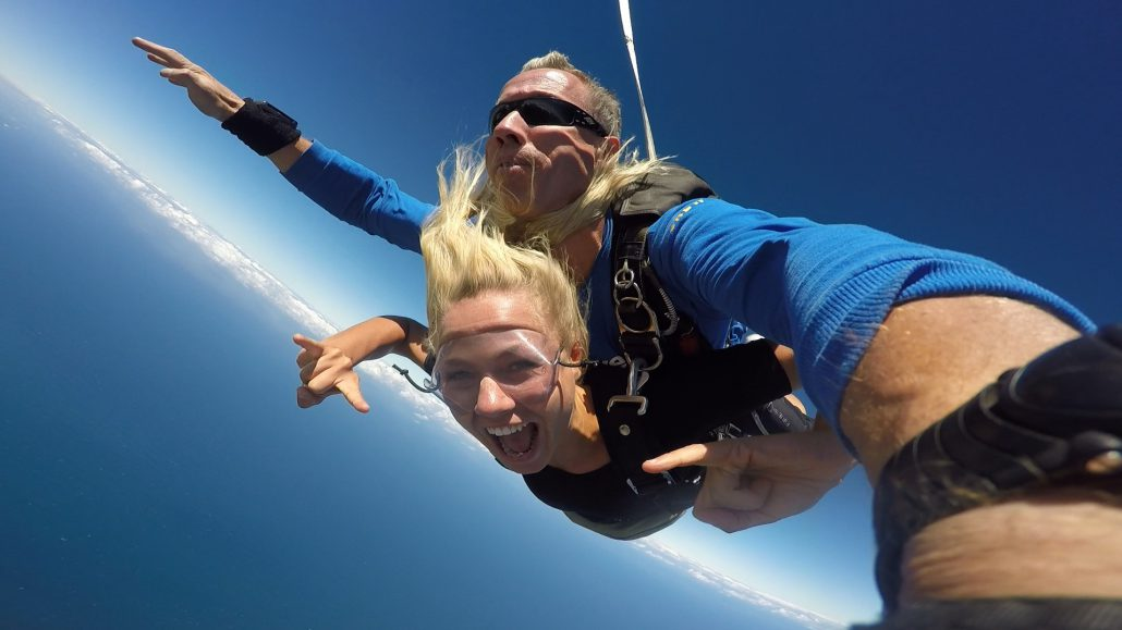 Jumping out of the plane for my skydive was amazing