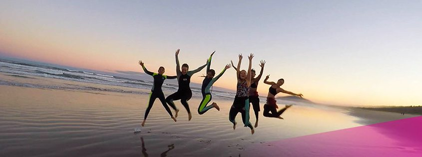 Fun with friends at Surf Camp Australia