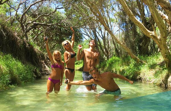 Eli Creek, Fraser Island on Ultimate East Coast: 5 Week