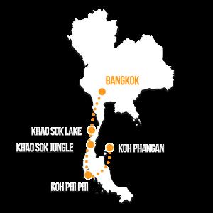 Thailand Group Tour - Map